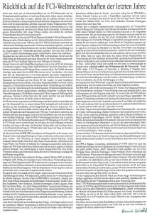 Bericht Weizdorfer - 10 Jahre Mannschaftsführung